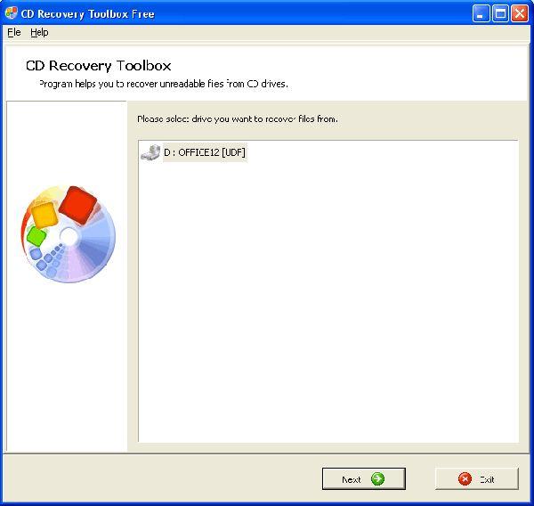Vorschau CD Recovery Toolbox Free - Bild 1