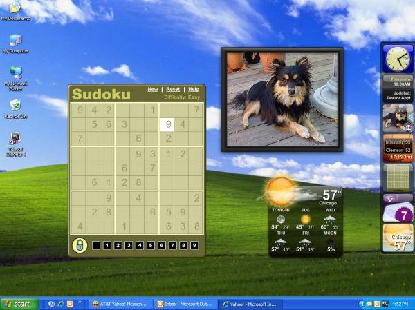Vorschau Yahoo Widget Engine - Bild 1