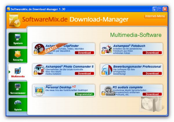 Vorschau SoftwareMix.de Download-Manager - Bild 1