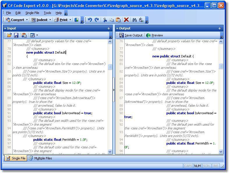Vorschau C# Code Export - Bild 1