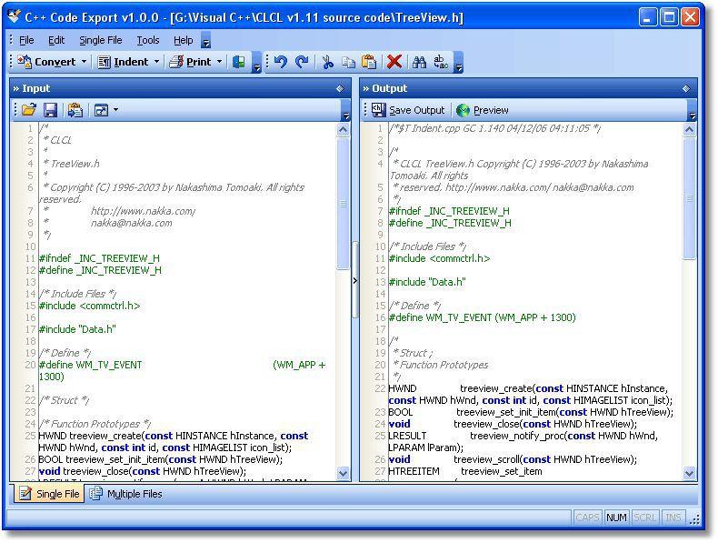 Vorschau C++ Code Export - Bild 1