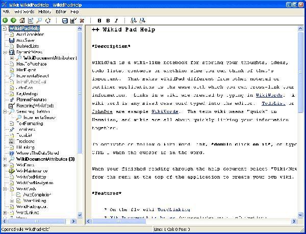 Vorschau wikidPad - Bild 1