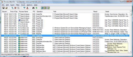 Vorschau Microsoft Process Monitor - Bild 1