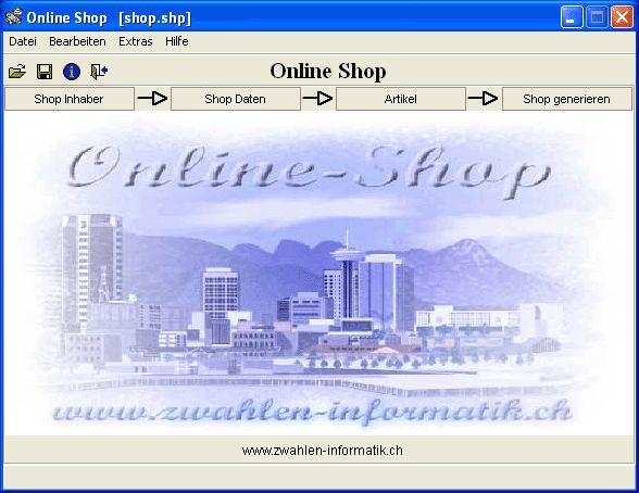 Vorschau Freeware Online Shop - Bild 1