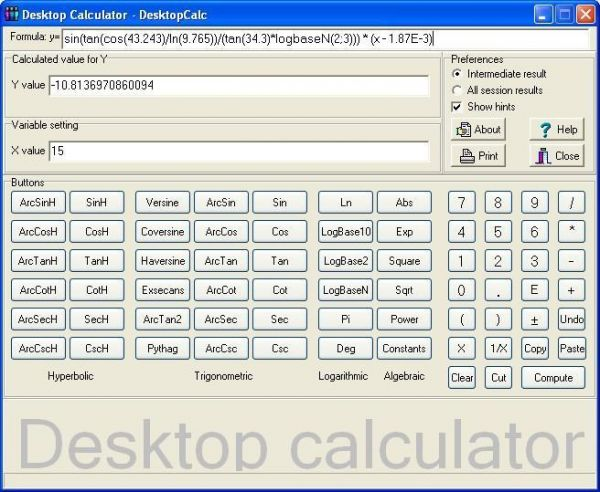 Vorschau Desktop Calculator - DesktopCalc - Bild 1