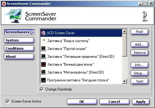 Vorschau ScreenSaver Commander - Bild 1