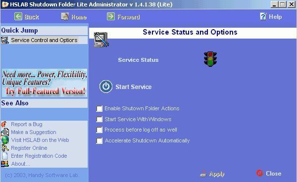 Vorschau HSLAB Free Shutdown Folder - Bild 1