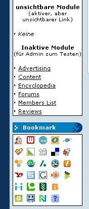 Vorschau Social Bookmark for phpNuke - Bild 1