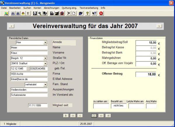 Vorschau Vereinsverwaltung - Bild 1