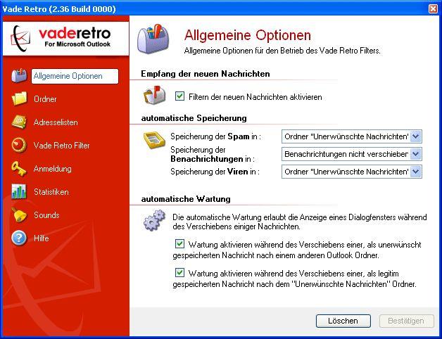 Vorschau Vade Retro, Antispam Software - Bild 1