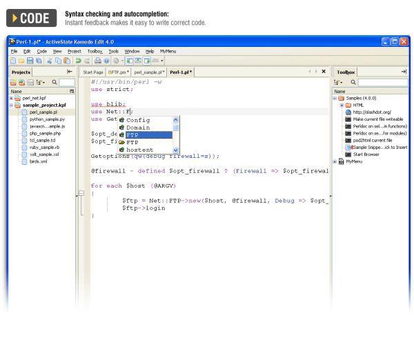 Vorschau Komodo Edit - Bild 1
