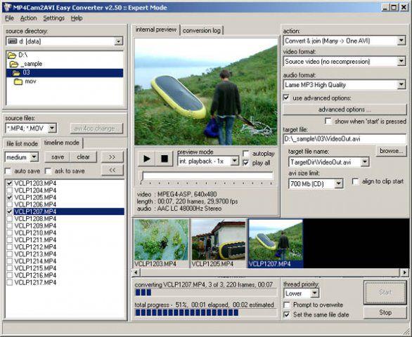 Vorschau MP4Cam2AVI Easy Converter - Bild 1