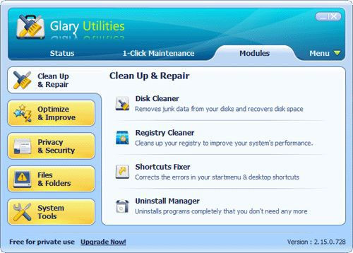Vorschau Glary Utilities and Portable - Bild 1