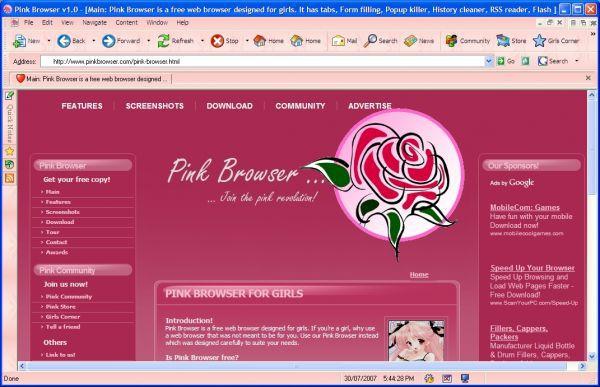 Vorschau Pink Browser - Bild 1