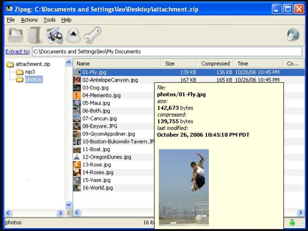 Vorschau Zipeg for Windows - Bild 1