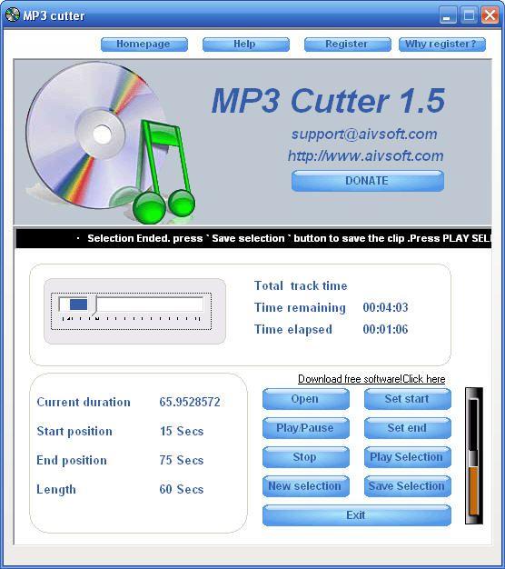 Vorschau AIV MP3 Cutter - Bild 1