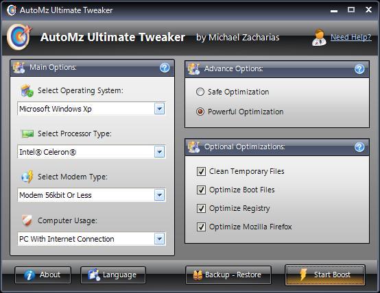 Vorschau AutoMZ Ultimate Tweaker - Bild 1