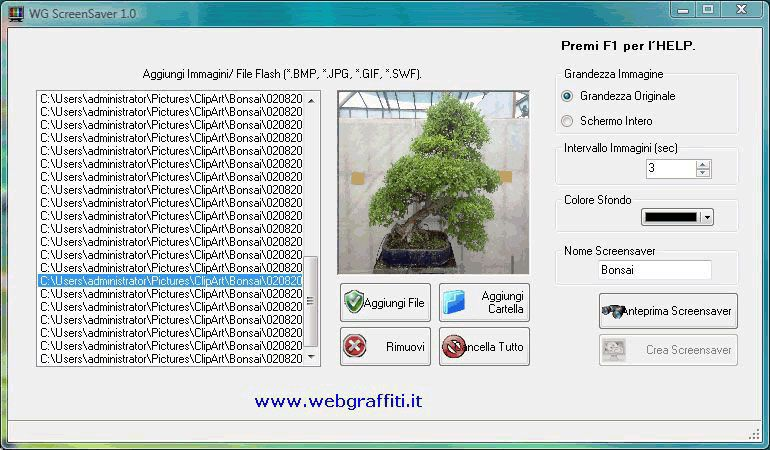 Vorschau WG-Screensaver Creator - Bild 1