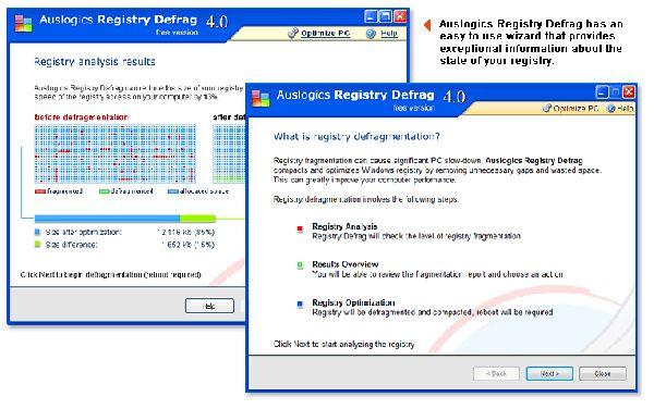 Vorschau Auslogics Registry Defrag - Bild 1