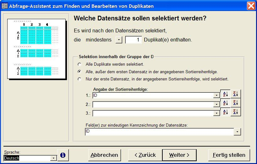 Vorschau Query-Wizard to find and clean up duplicates - Bild 1