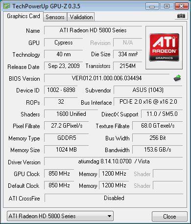 Vorschau GPU-Z - Bild 1