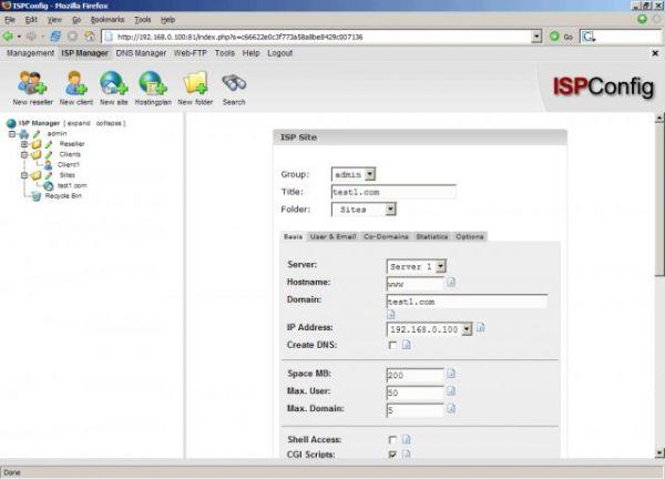 Vorschau ISPConfig Hosting Control Panel - Bild 1