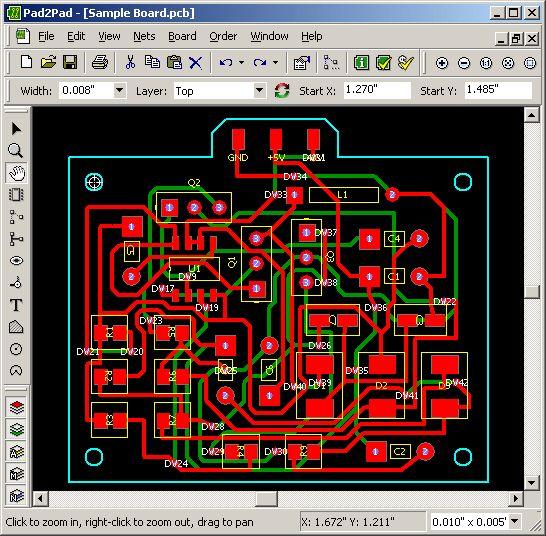 Vorschau Pad2Pad Free PCB Layout CAD - Bild 1