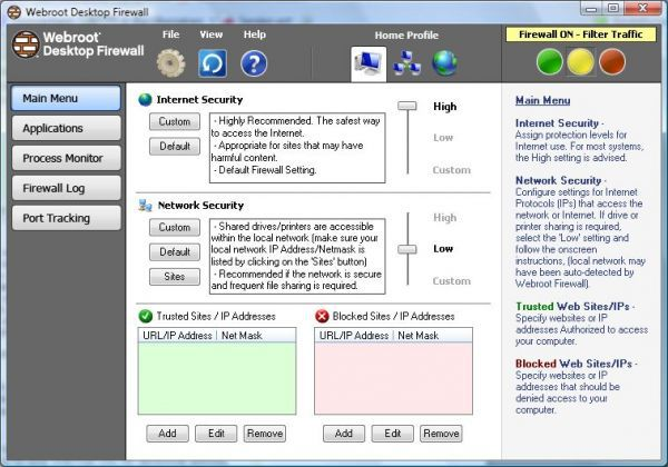Vorschau Webroot Desktop Firewall - Bild 1