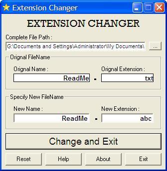 Vorschau Extension Changer - Bild 1