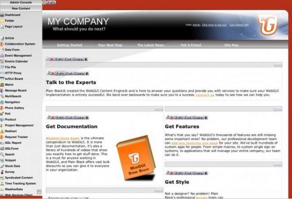 Vorschau WebGUI - Bild 1