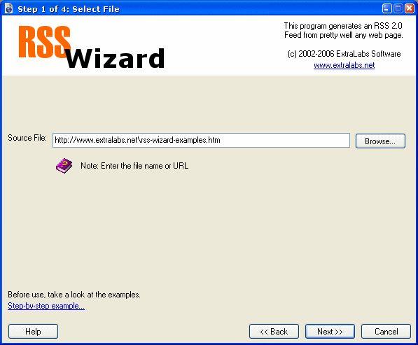 Vorschau RSS Wizard - Bild 1