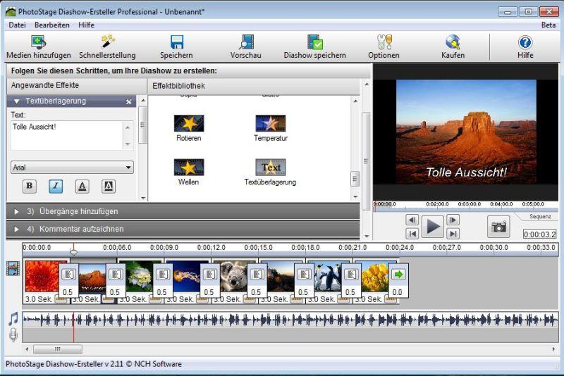 Vorschau PhotoStage Free Photo Slideshow Software - Bild 1