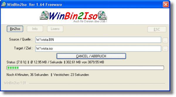 Vorschau WinBin2Iso and Portable - Bild 1