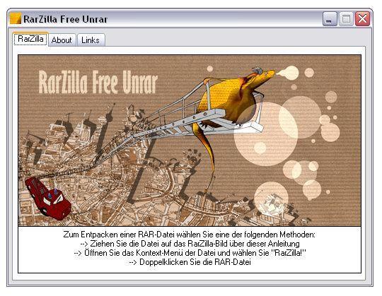 Vorschau RarZilla Free Unrar - Bild 1