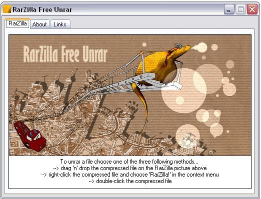 Vorschau RarZilla Free Unrar Portable - Bild 1