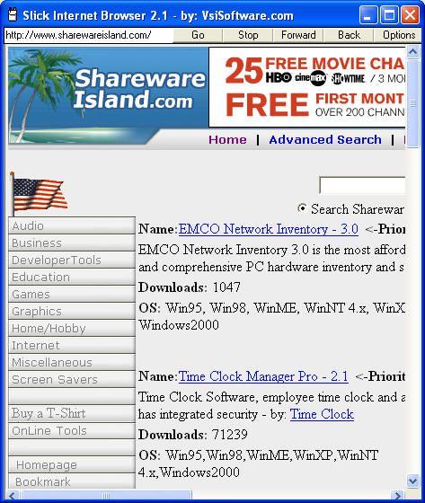 Vorschau Free Slick Browser - Bild 1