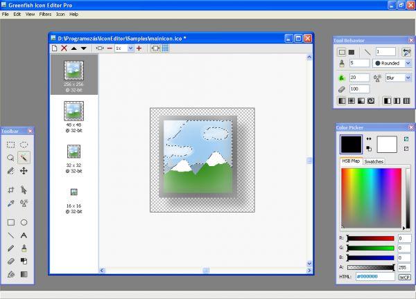 Vorschau Greenfish Icon Editor Pro - Bild 1