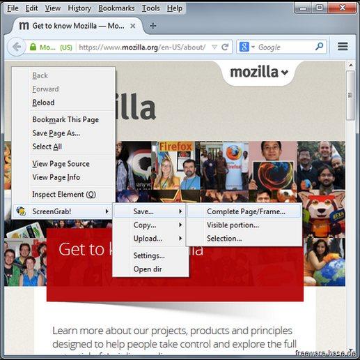 Vorschau Screengrab für Firefox - Bild 1