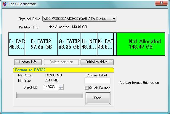 Vorschau Fat32Formatter - Bild 1