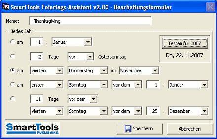 Vorschau Feiertags-Assistent for Outlook - Bild 1