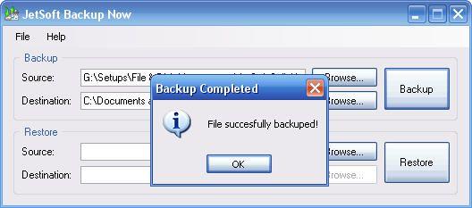 Vorschau JetSoft Backup Now - Bild 1
