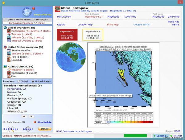 Vorschau Earth Alerts - Bild 1