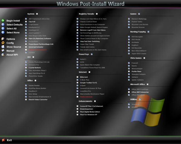 Vorschau Windows Post-Install Wizard - Bild 1