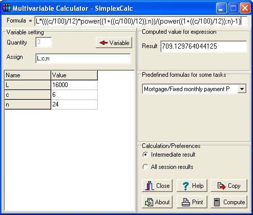 Vorschau Multivariable Calculator - SimplexCalc - Bild 1