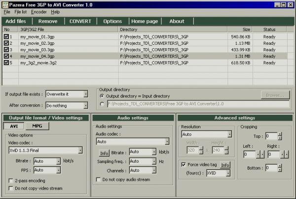 Vorschau Pazera Free 3GP to AVI Converter - Bild 1