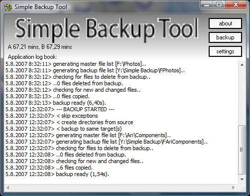 Vorschau Simple Backup Tool - Bild 1