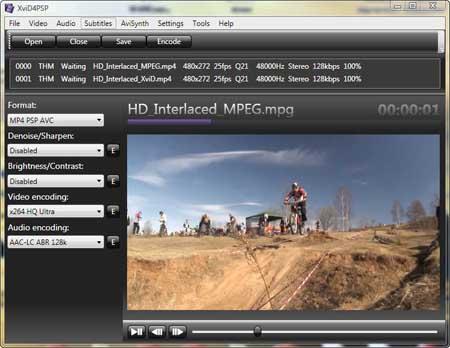 Vorschau XviD4PSP Video Converter - Bild 1