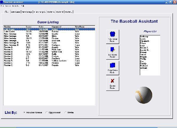 Vorschau Baseball Roster Organizer - Bild 1