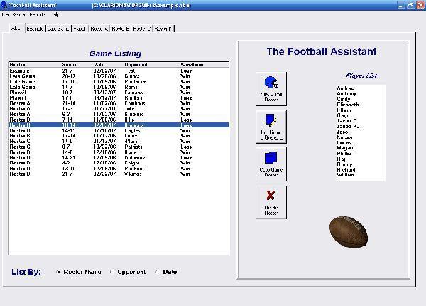 Vorschau Football Roster Organizer - Bild 1