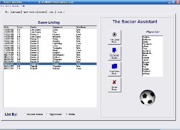 Vorschau Soccer Roster Organizer - Bild 1
